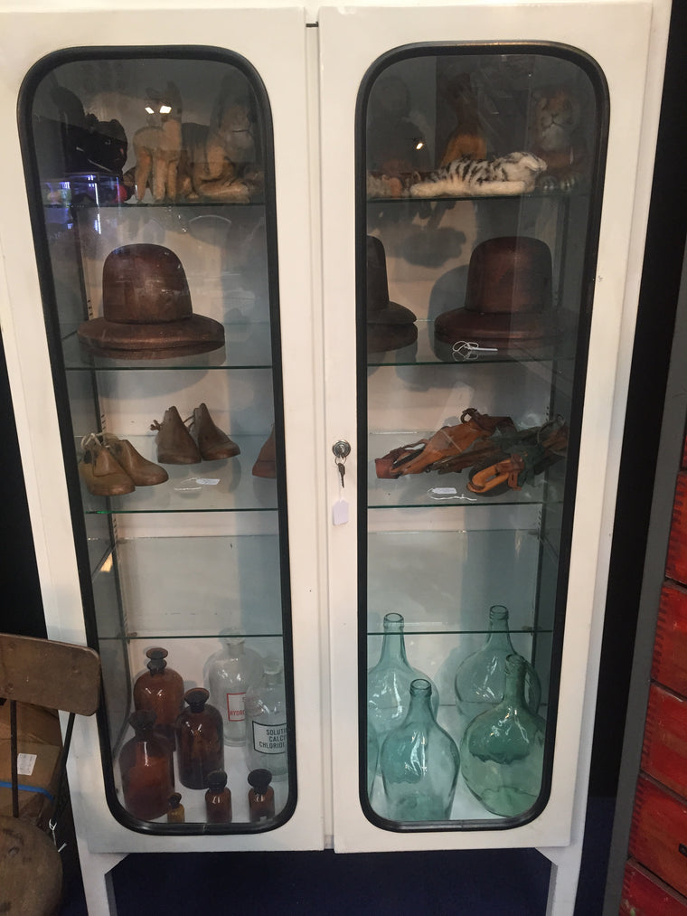 Vintage industrial French medical cabinets #1571a