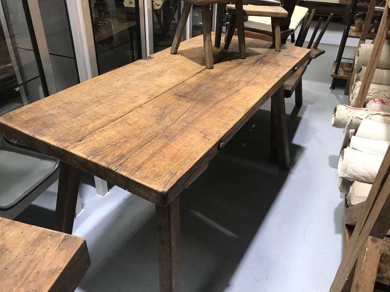 Vintage industrial European wooden hallway table console #2170/5