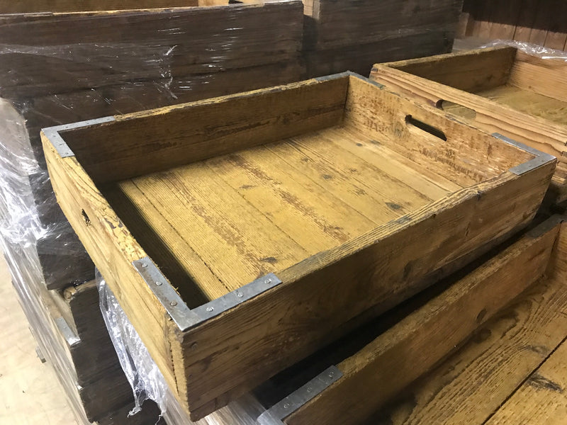 Vintage industrial French industrial wooden crate #2199/6261