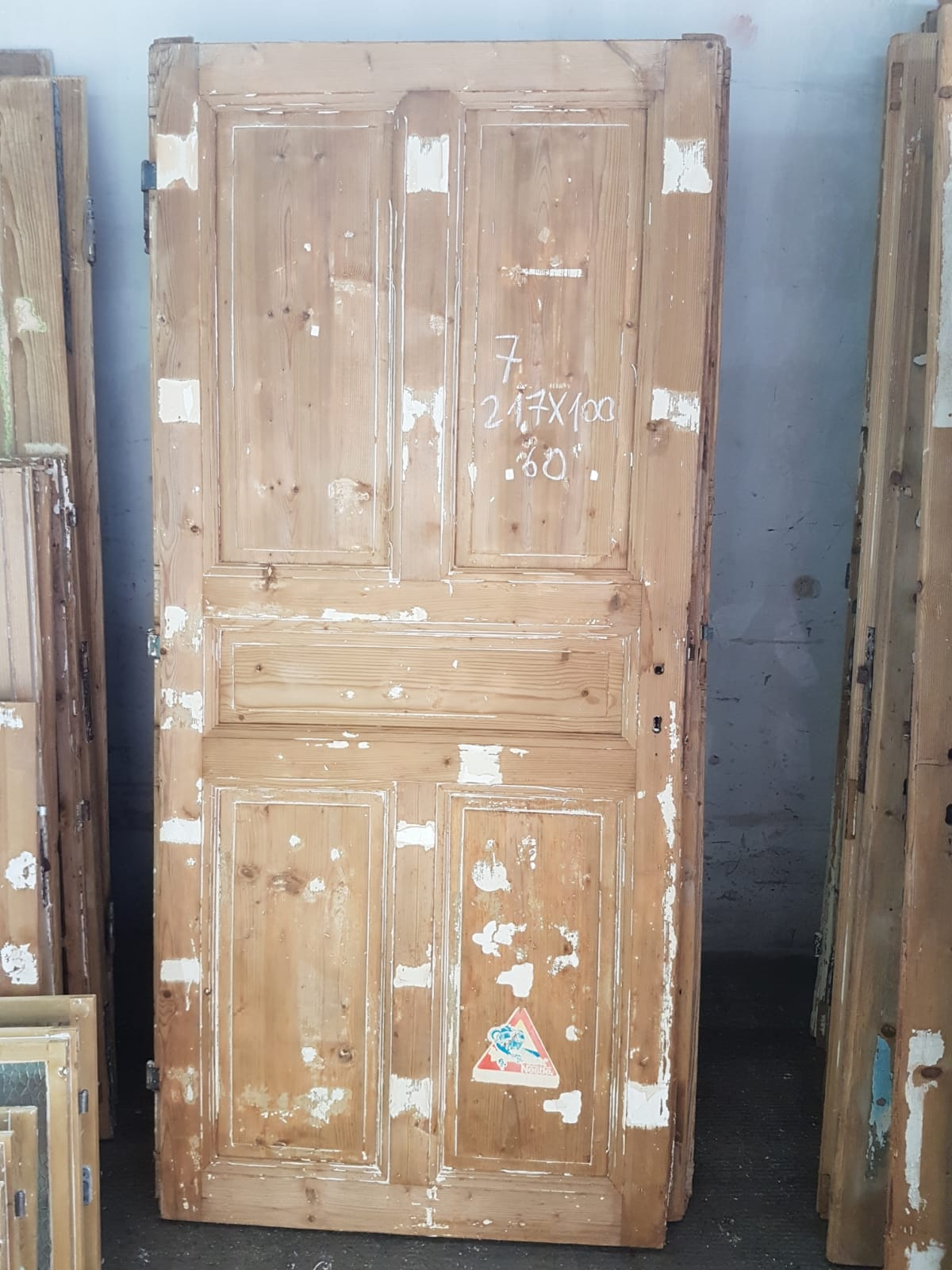 Vintage French house wooden door #2565/7