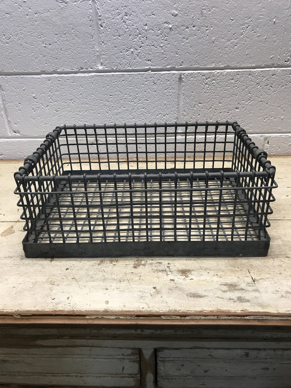 Vintage industrial metal crate #786