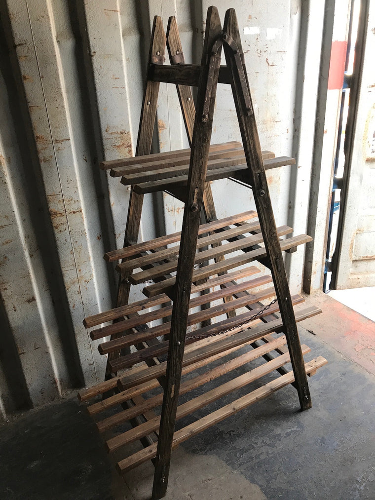 Vintage  ladder wooden rack  #B2407  BYRON