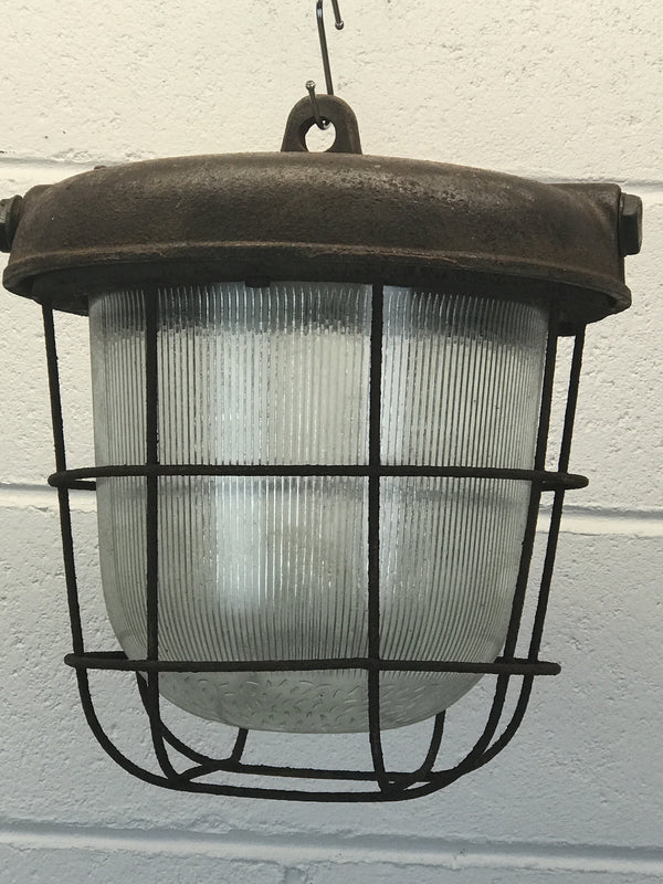Vintage industrial CZECH warehouse lights #884