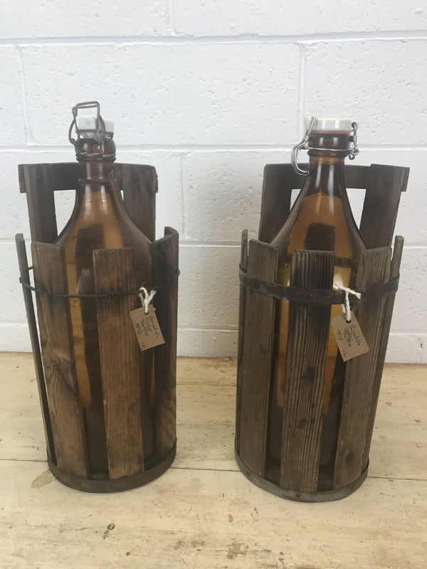 Vintage industrial Swedish cider bottles  #904