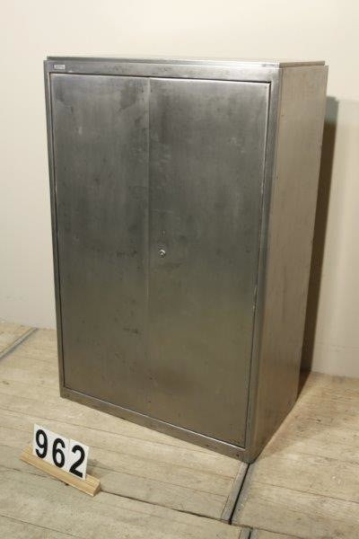 Vintage industrial Czech metal medical cabinet with fold out doors ...