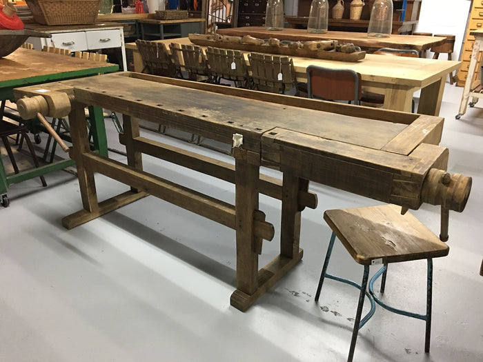 Vintage industrial European carpenters workbench 1920s #2095 B7