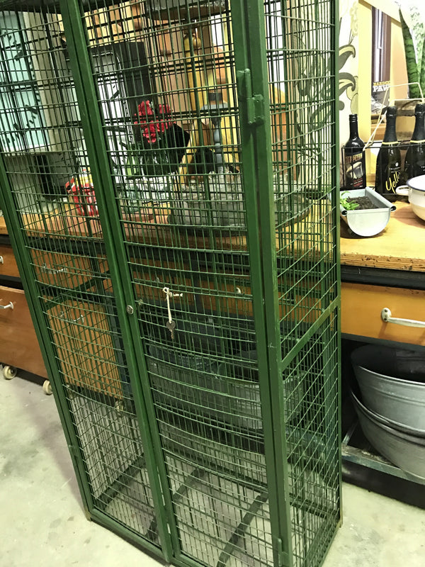 Vintage industrial French wine rack #1619