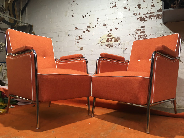 Vintage industrial 1935 Design chairs by Mucke Melder  sold as set #2221