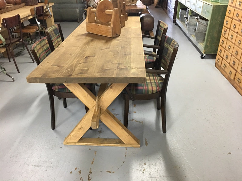 Vintage industrial European kitchen dining table #1871