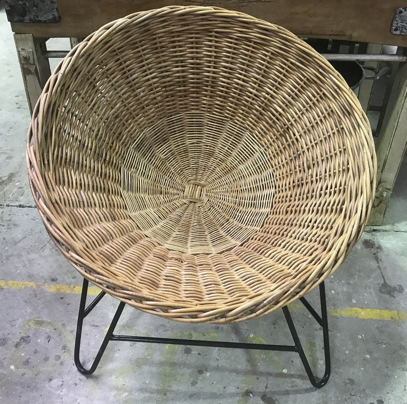 Vintage industrial Mid Century Danish Basket chair #1901