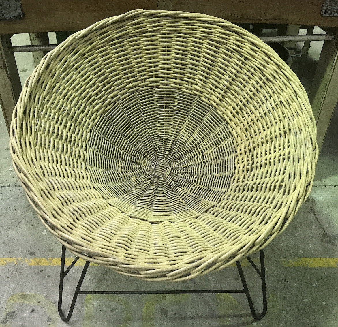 Vintage industrial Mid Century Danish Basket chair #1902