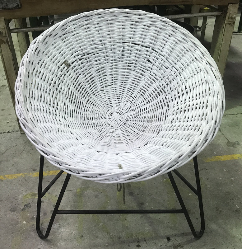 Vintage industrial Mid Century Danish Basket chair #1903 white byron bay