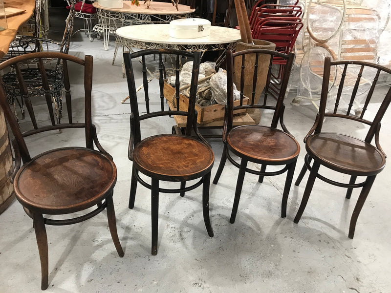 Vintage Czech 1940s Thonet chair SELLING AS A SET x 4 #1518