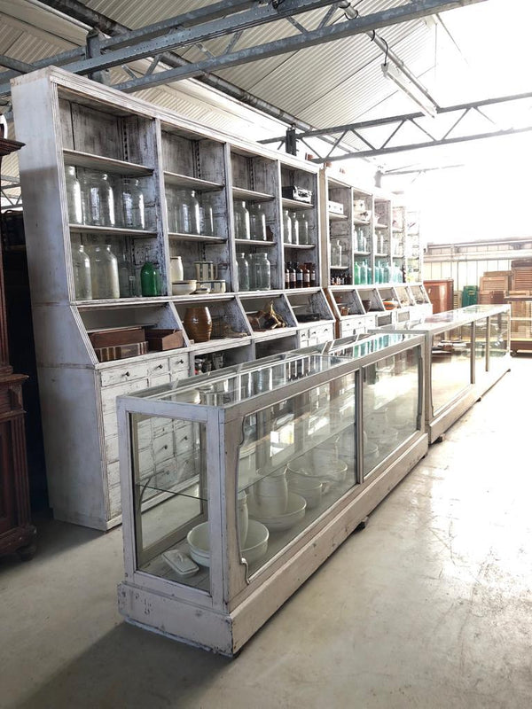 Vintage Dutch pharmacy cabinet  12 meters in total #0000