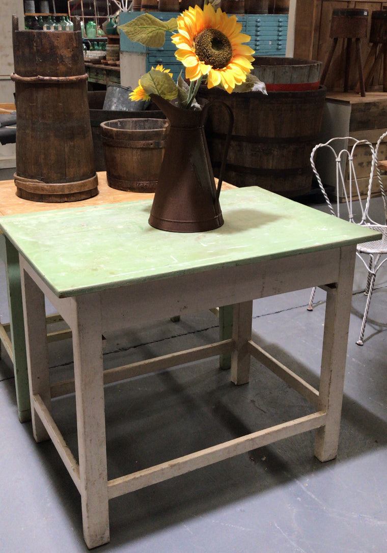 Copy of Vintage industrial European kitchen farmhouse dining table #3178