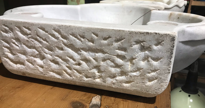 Vintage Turkish Marble Sink  #3246 (5)