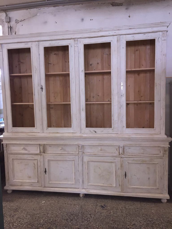 Vintage industrial European pharmacy cabinet  #2135