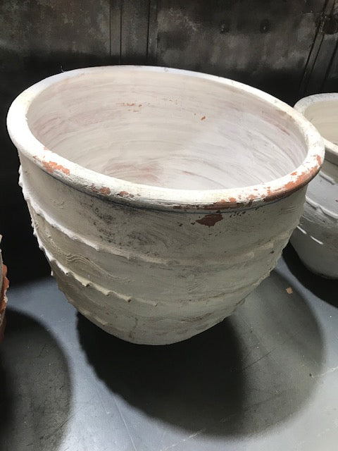Vintage Turkish Terracotta  Big Mouth Pot #3243 (5)