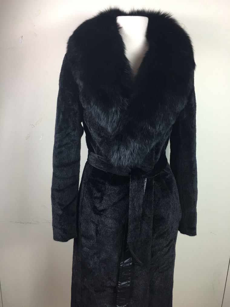 Faux Fur Long Coat #C005