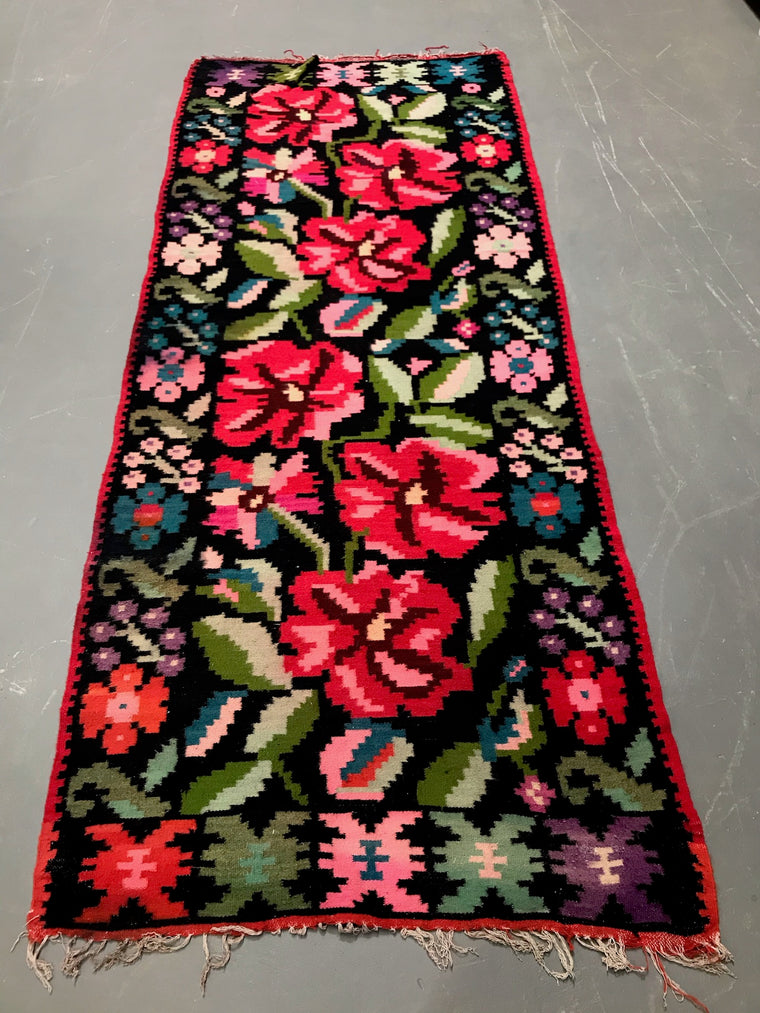 Vintage European Gypsy Carpet  #3295