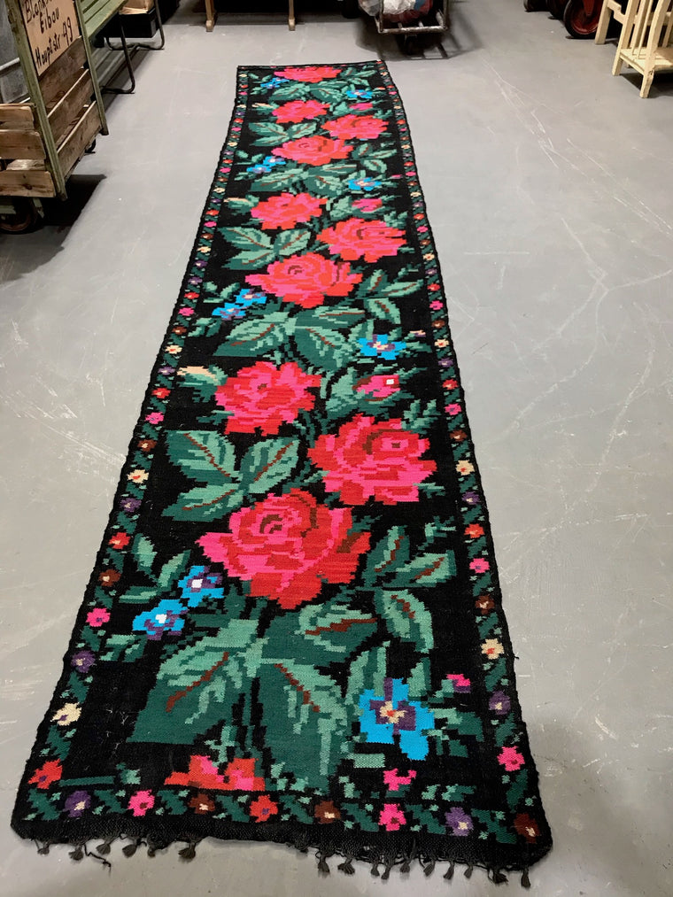 Vintage European Gypsy Carpet  #3298