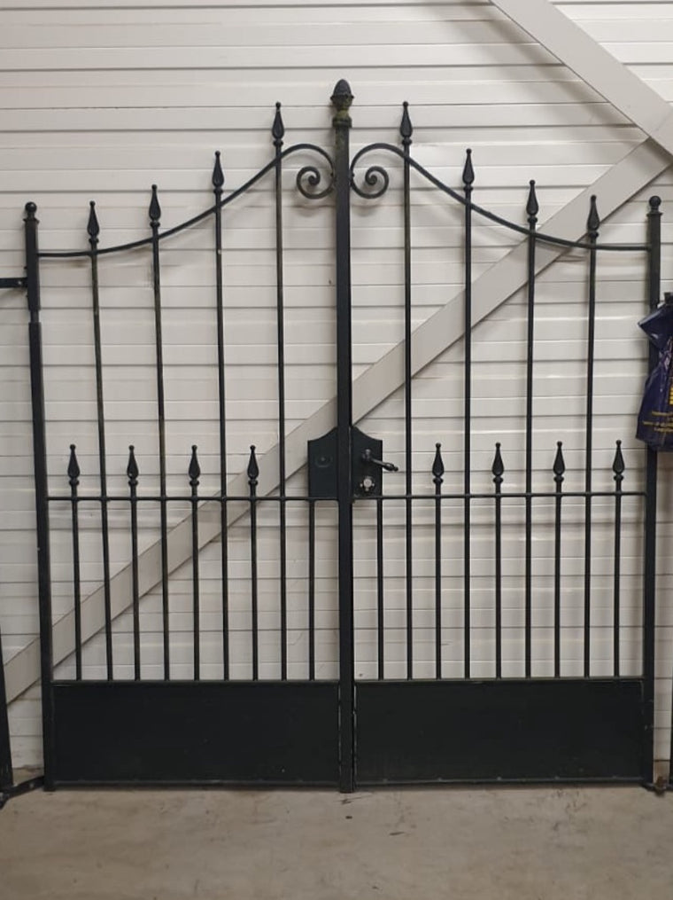 Vintage Dutch old wrought iron driveway gates 2 meters x 2 meters #3314 BYRON
