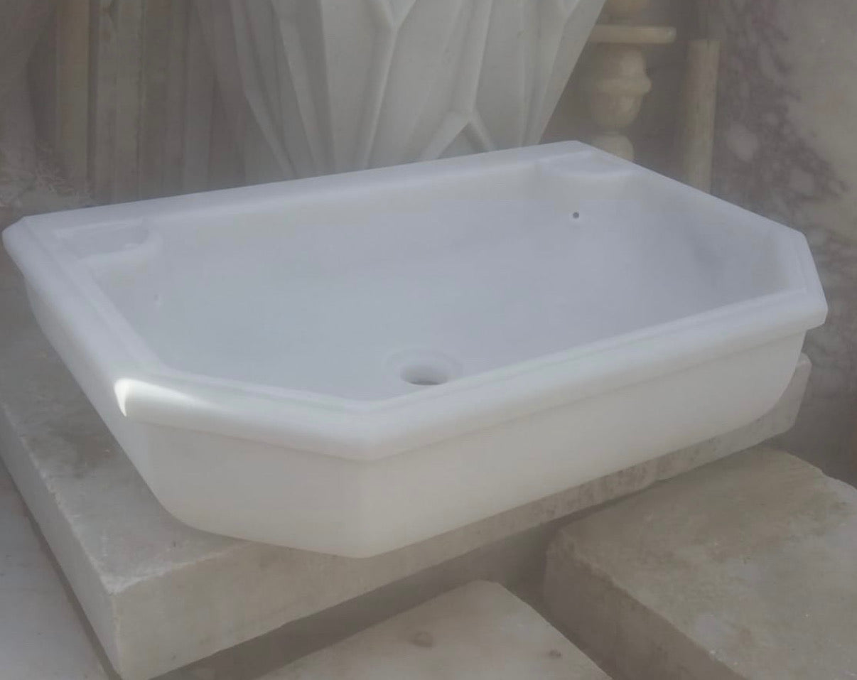 Vintage Turkish Marble Sink  #3340 May container