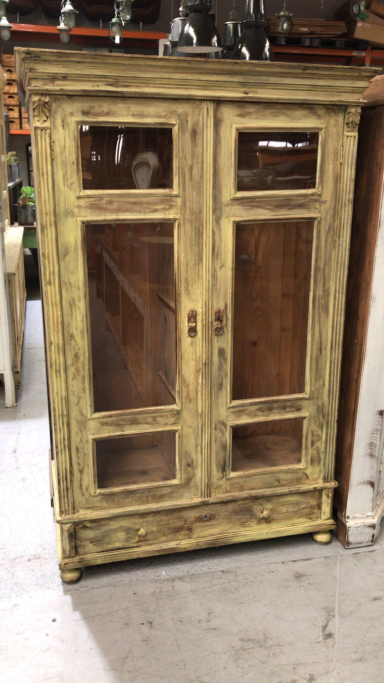 Vintage  European  kitchen hutch cabinet  #2581
