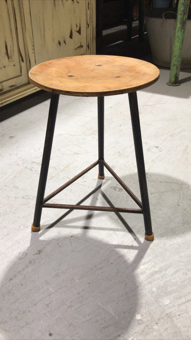 Vintage industrial Dutch hospital stool udjustable highet  #2584