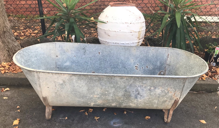 Vintage European  Galvanised Bath Tubs #3444/ 2