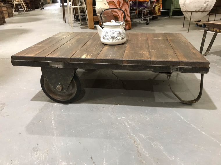 Vintage European Rail Cart Coffee Table  #3451 B
