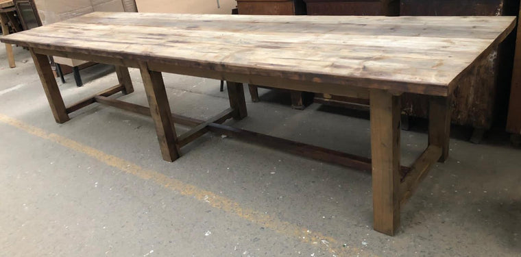 Vintage European Farmhouse  Table  3.7 mt #3281