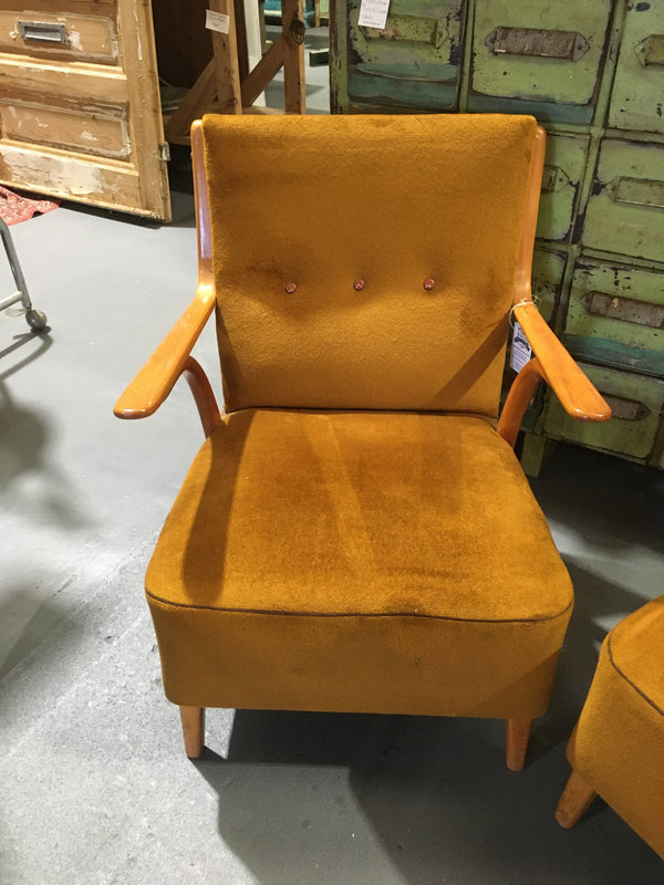 Vintage industrial Czech Halabala club chair selling per chair #2752
