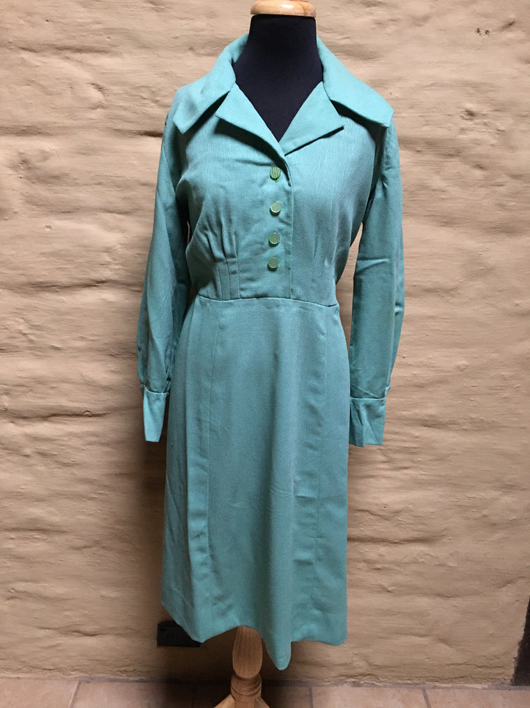 Vintage 50s Dress  #C072  NQR  FREE POSTAGE AUS WIDE