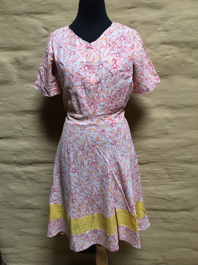Vintage 40s Dress  #C074  NQR FREE POSTAGE AUS WIDE