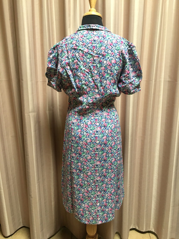 Vintage 40s Dress #C078 FREE POSTAGE AUS WIDE