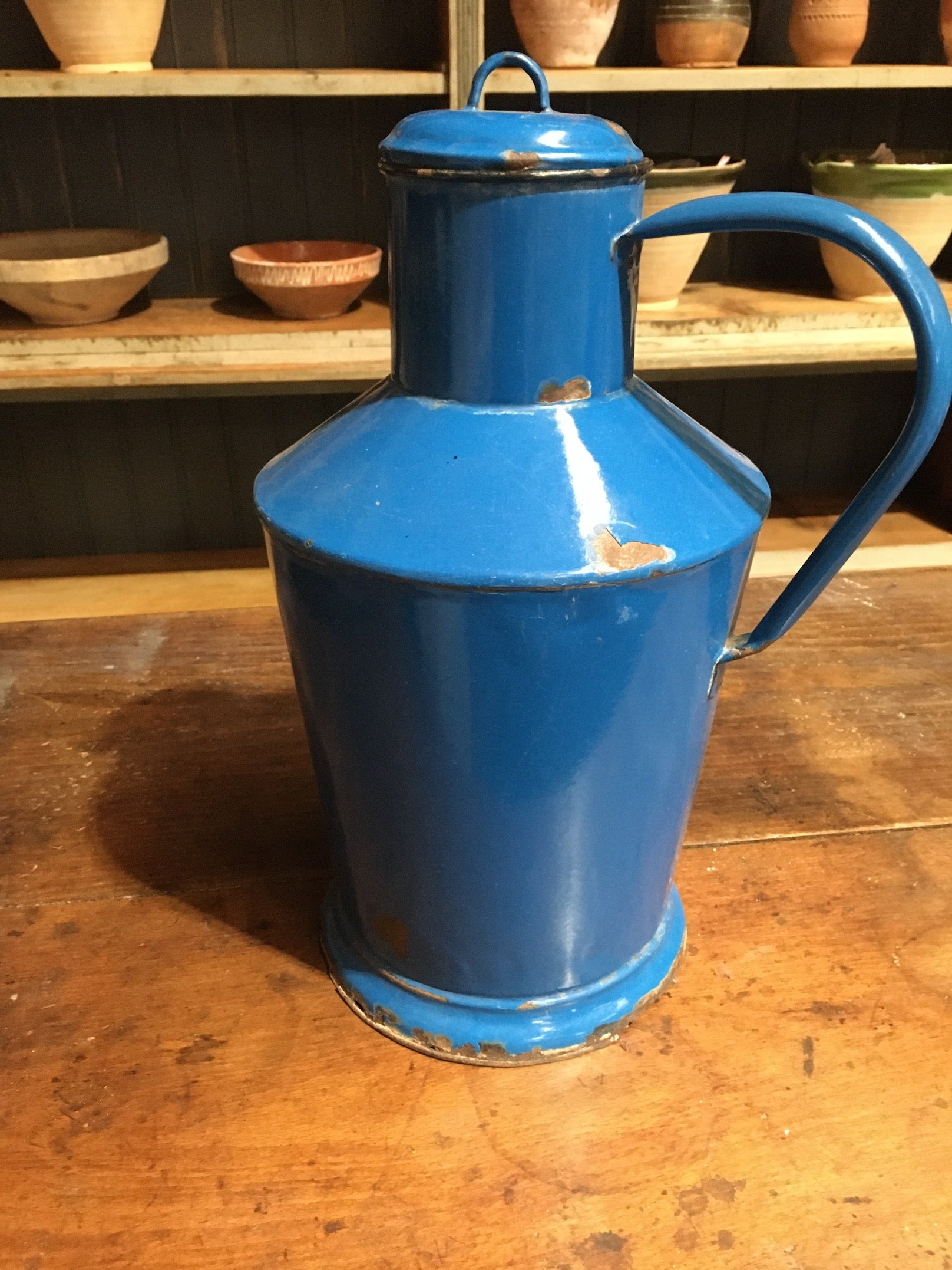 Vintage European Enamel  Water/Oil Jug  #2783
