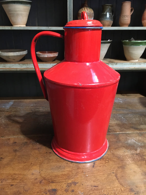 Vintage European Enamel  Water/Oil Jug  #2784