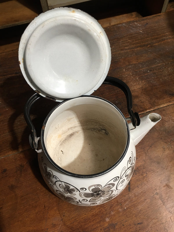 Vintage European Enamel Coffee Pot #2788