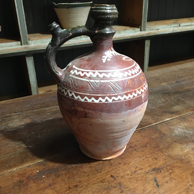 Hungarian Gypsy Terracotta Jug #2812