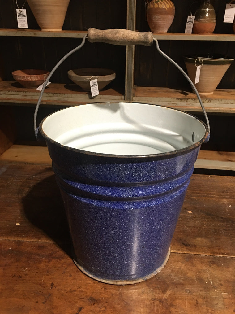 European Enamel Water Bucket #2830