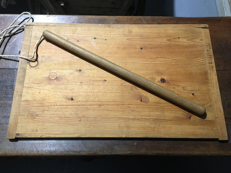 Vintage  Italian Pasta Board with Rolling Pin #2836