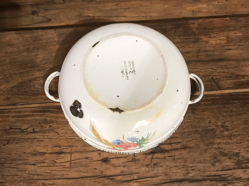 Vintage European Enamel Bakers Bowls with Handles #2912