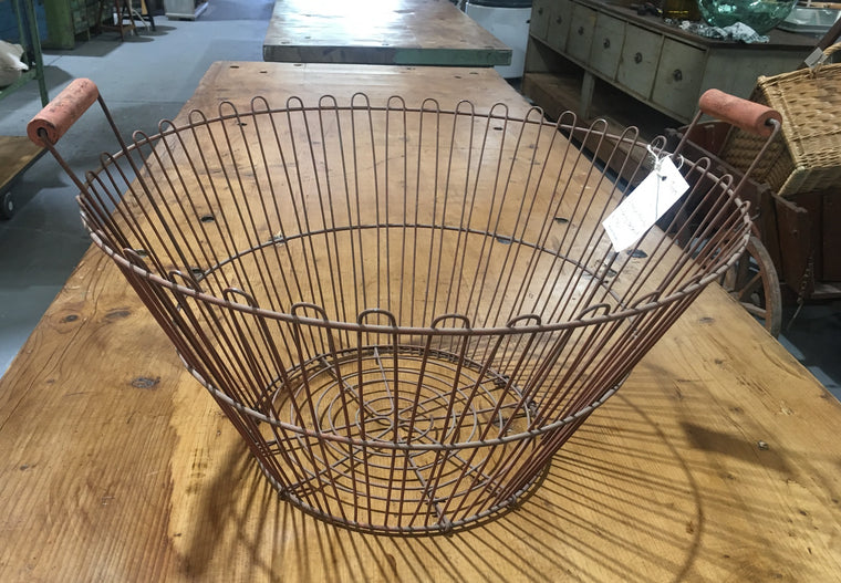 Vintage European Potato Picking Basket  #2937-6