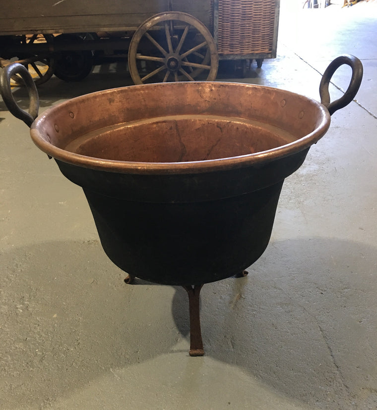 Vintage European  Copper Cauldron  #3003 (1)