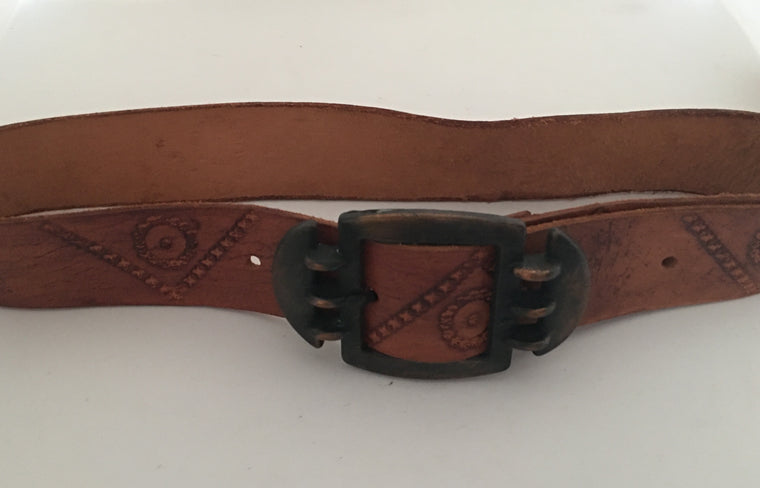 Vintage Leather Belt #C096 FREE POSTAGE AUS WIDE