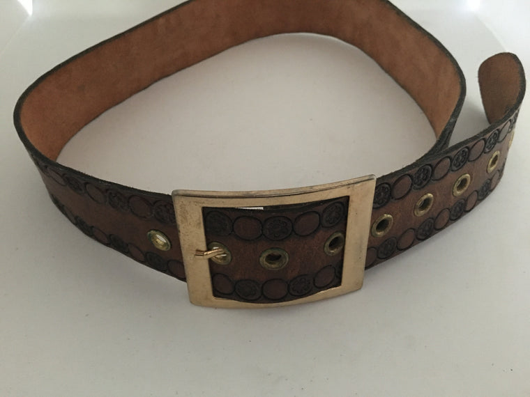 Vintage Leather Belt #C097 FREE POSTAGE AUS WIDE
