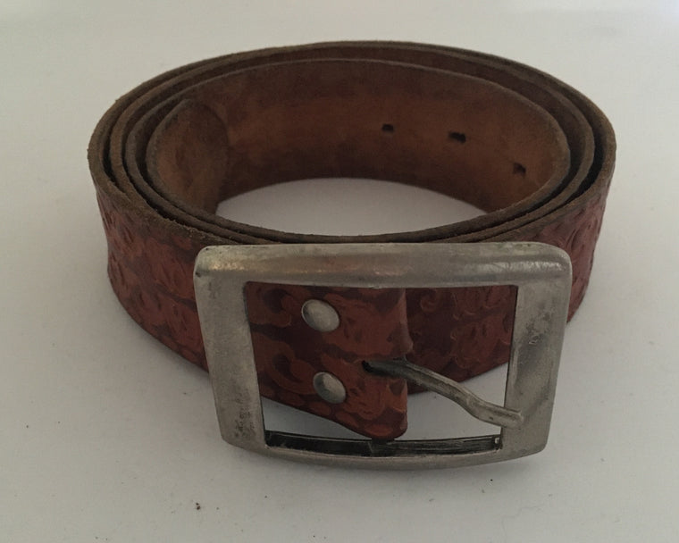 Vintage Leather Belt #C098 FREE POSTAGE AUS WIDE