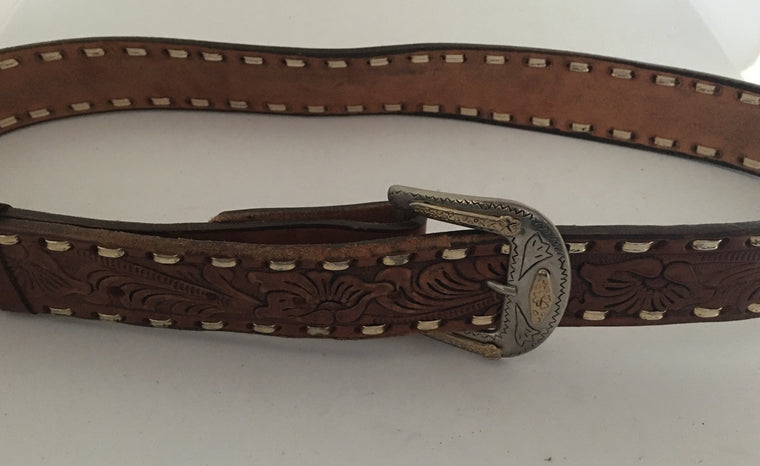 Vintage Leather Belt #C099 FREE POSTAGE AUS WIDE