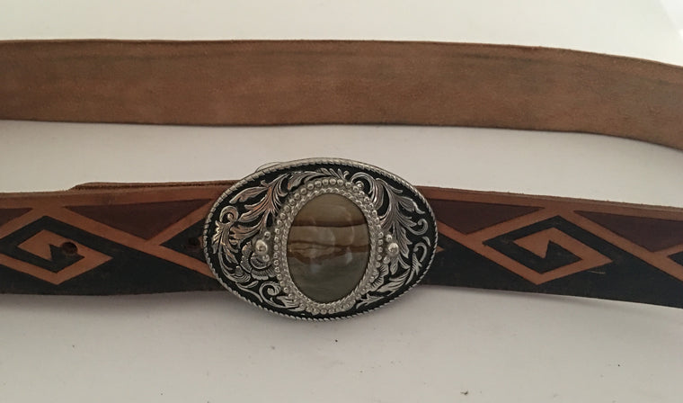 Vintage Leather Belt #C101 FREE POSTAGE AUS WIDE